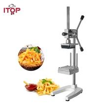 ITOP Manual Vertical Potato Chip Cutter Slicer Machine Aluminium Alloy French Fries Cutter Potato Carrot Slicer цена и фото