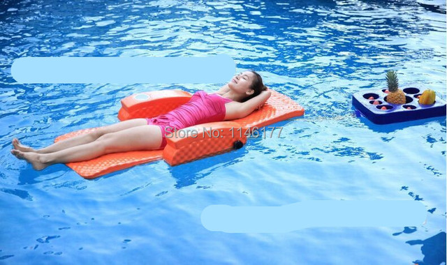 Natação Saco de Feijão Laranja Cama de Água diversão ao ar livre primavera quente água do aqua espreguiçadeiras cama dobrável cadeira reclinável cadeira de fábrica