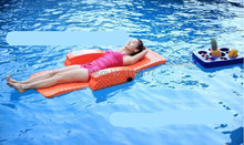 Swimming Orange Bean Bag Bed Water fun outdoor hot spring water aqua loungers folding bed recliner chair factory