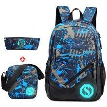 2020 nowy Graffiti plecaki szkolne mężczyźni moda studenci torby szkolne dla nastoletnich dziewcząt chłopców Luminous mężczyźni plecaki podróż Mochila