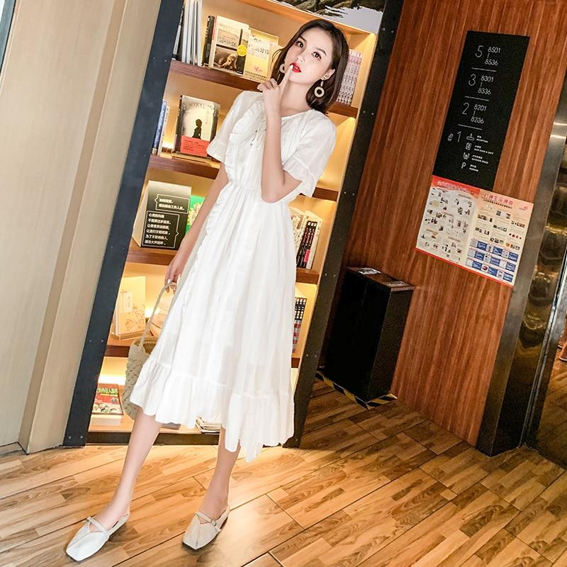 2019 Summer Mesh Party Dresses Short Sleeve Flare Sleeve Dresses good quality
