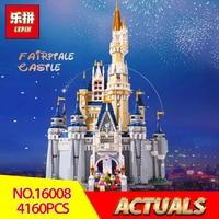 Лепин 16008 создатель Золушка Принцесса замок City 4080 шт. Модель Building Block детская игрушка подарок Совместимость LegoINGlys 71040
