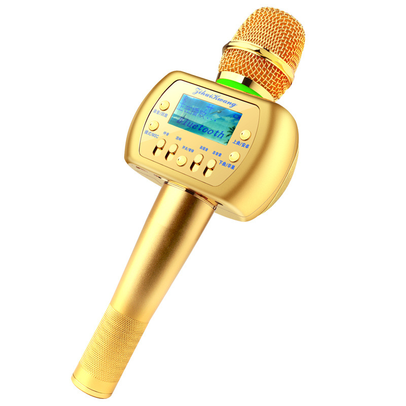 ФОТО So Magic ! KTV Sing karaoke Wireless Bluetooth Microphone With Speaker For IPhone Android Smartphone
