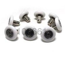 8pcs 25mm Double Wheel Sliding Roller Pulley for DIY Shower Door Window