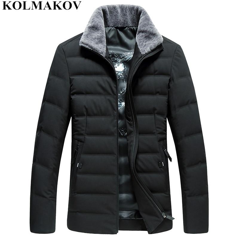 2018 New Winter Men's 85% Duck   Down     Coats   Business Short Overcoats Mens   Down   Jacket Men M-3XL Top Quality Thick Outwear Men