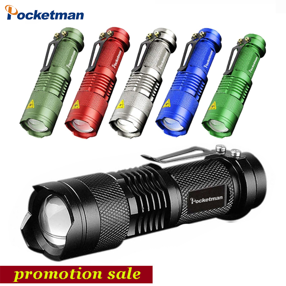 6 Colors Mini LED Flashlight 2000lm Q5 LED Torch 3 Modes Adjustable Zoom Focus Torch Lamp Penlight Waterproof AA/14500 Z50 zoom mini led flashlight pocket clip torch work light 14500 rechargeable penlight super bright powerful adjustable focus
