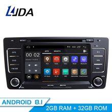 LJDA 2 Din Android 8,1 радио автомобиль Skoda Octavia 2012 2013 5 A5 Yeti, Fabia Автомобильный мультимедийный стерео Авто Аудио gps DVD ips WI-FI