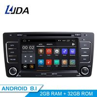 LJDA 2 Din Android 8.1 Car Radio For Skoda Octavia 2012 2013 A 5 A5 Yeti Fabia Car Multimedia Stereo Auto Audio GPS DVD IPS WIFI