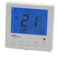 Easy to operate LCD Display room Digital Thermostat for fan coil unit