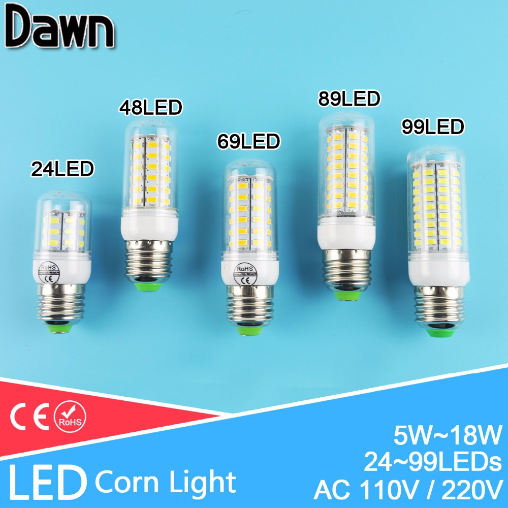 24~99LEDs Lampada Corn LED Bulb E27 E14 220v 110v LED Lamp SMD 5730 7W 9W 12W 15W 18W Warm Cold white Bombilla Ampoule Lamparas e27 15w 1200lm 71 smd 5730 led warm white light lamp white yellow 220v