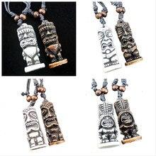Крутой мужской кулон в стиле маори/Гавайский стиль, искусственный резной тотем, мужские подвески, ожерелья, амулеты, подарки, XL34
