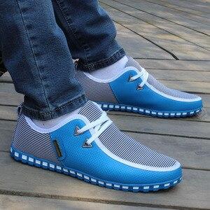 GOXPACER Frühling Und Herbst 2018 Neue Männer Schuhe Casual Schuhe Mischfarben Wohnungen Schnürung Mode Männer Leder Schuhe Atmungs Wohnungen