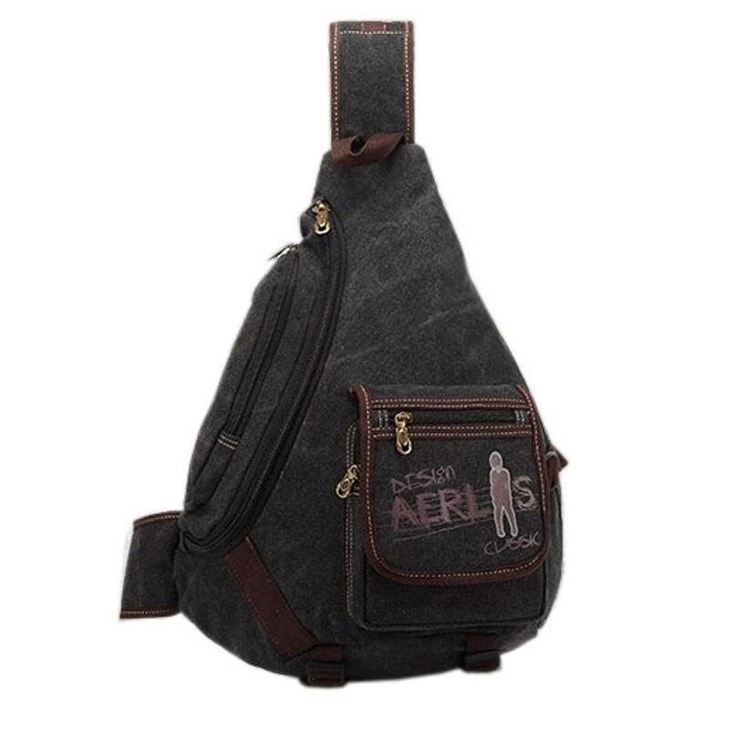 New Men's Canvas Vintage Travel High Capacity Back pack Cross Body Messenger Shoulder Sling Chest Bag Pack стоимость