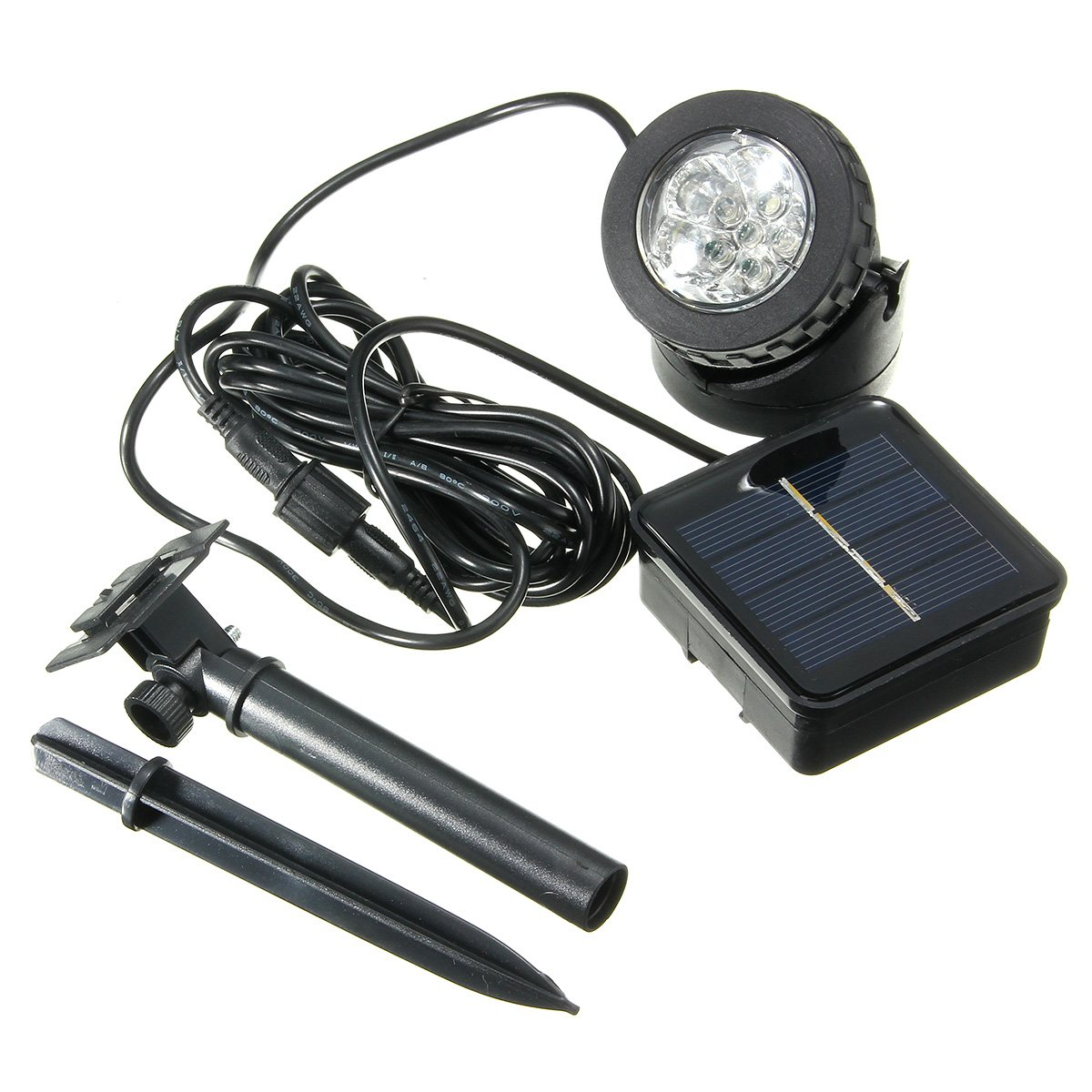 1Set Outdoor LED Solar Lamp Waterproof Lawn Path Lamp 6Leds Solar Spotlight IP68 Garden Light