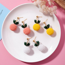 New Trendy Plant Women Stud Earrings Lovely Pineapple Fruit For Drops Fashion Jewelry 2019