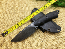 The military camping gear series Famous saber For outdoor Speed keep hunting knife The deep black shark