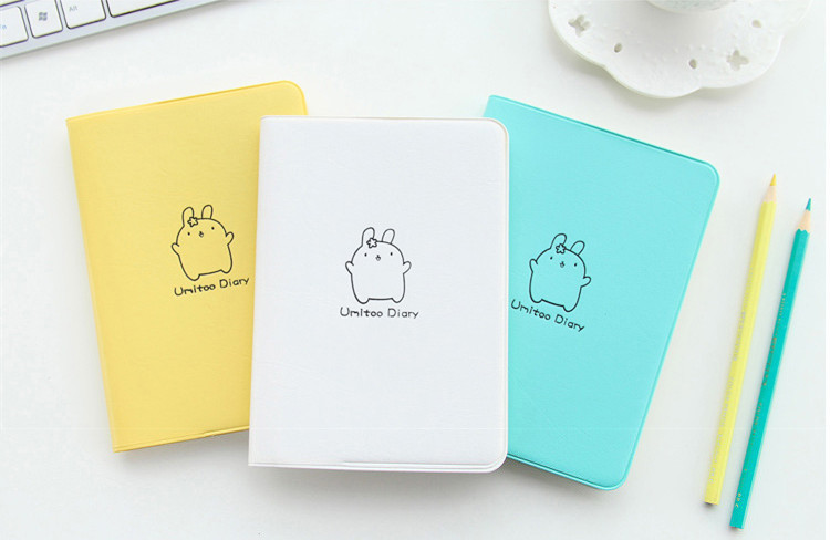 2018 Cute Rabbit Diary Kawaii Calendar Planner 2018 2019 Program Notebook Notepad Pocket Journal For Gift <font><b>School</b></font> Supplies