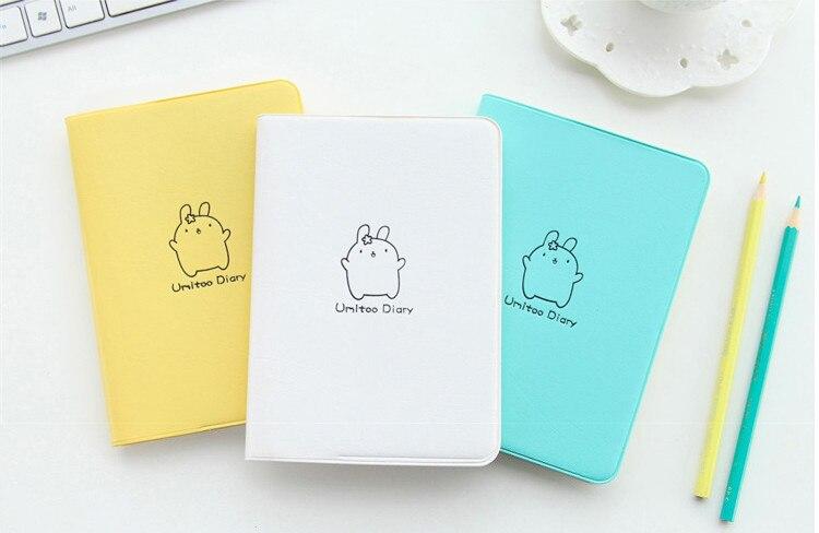 2018 niedlichen Kaninchen Tagebuch Kawaii Kalender Planer 2018 2019 Programm Notebook Notizblock Tasche Journal Für Geschenk Schule Liefert