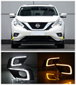 12 V Car Styling Para Nissan MURANO LED DRL Faros Antiniebla Luz de Circulación Diurna Con Función de Señal De Giro