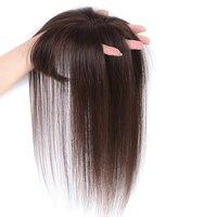 Allaosify женский мужской парик с челкой прямые искусственные волосы материал волос ручной работы верхняя часть волос Comingbuy