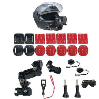 Motorcycle Full Face Helmet Front Side Chin Mount for Xiaomi YI 4K GoPro Hero 8 7 6 5 4 3 SJCAM Sj4000 EKEN H9 POV Action Camera