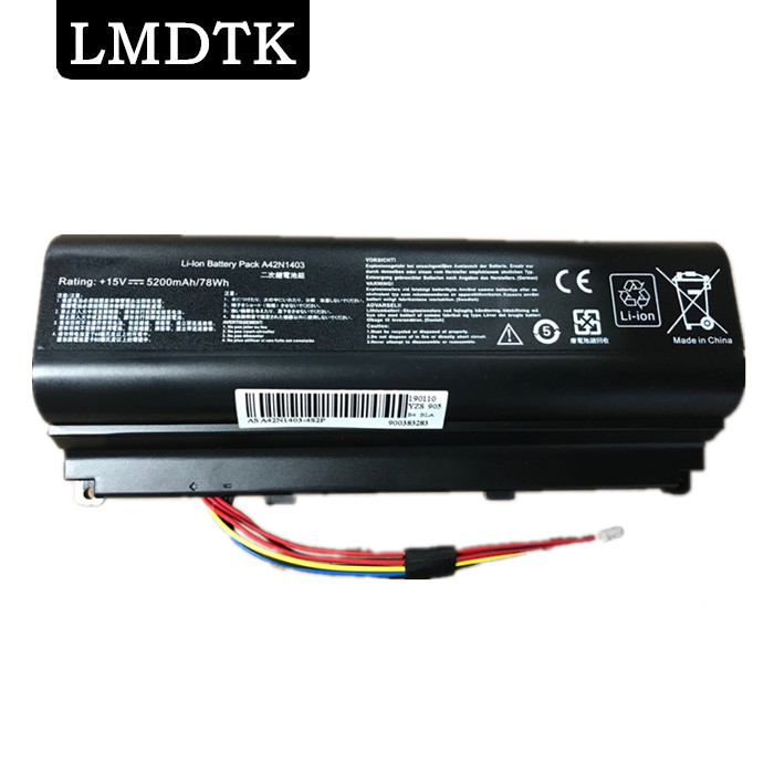 LMDTK New laptop battery FOR <font><b>ASUS</b></font> <font><b>ROG</b></font> G751 G751JL G751J G751JM <font><b>G751JT</b></font> GFX71 GFX71J GFX71JM GFX71 GFX71J GFX71JM Series A42N1403 image
