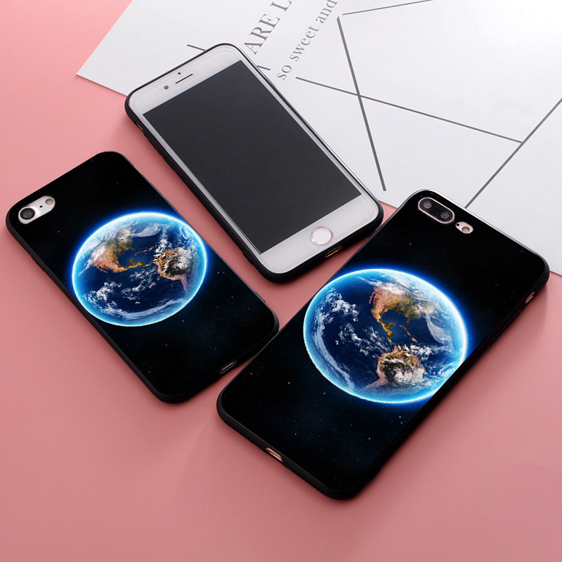 geekoplanet.com - Cartoon Bright Outer Space Cases For iphone