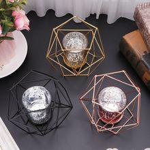 Скандинавском стиле 3D геометрический подсвечник металлический подсвечник свадебный домашний Декор Горячая Распродажа