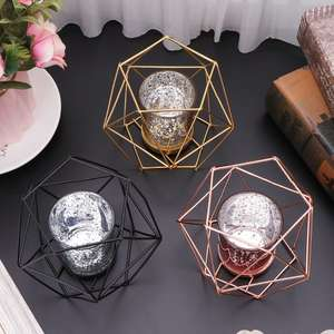 Nordic Style 3D Geometric Candlestick Metal Candle Holder Wedding Home Decor Hot