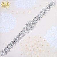 (5 Stuks) groothandel Naaien op Kralen Applique Patches met Crystal Steentjes Decoratieve Trim voor Bridal Dress Sash of Hoofdbanden