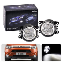 2pcs Highlighted LED White Fog Light Lamp Replacement 33900STKA11 XR837532 For Ford Focus Acura Honda Subaru