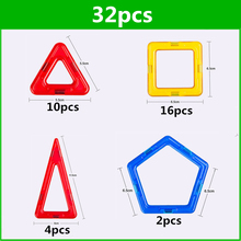 32 PCS standard size magnetic building blocks Model Building Toys Brick designer Enlighten Bricks magnetic toys