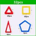 32 UNIDS estándar tamaño diseñador Aclare Ladrillos bloques de construcción magnética Juguetes Modelo de Construcción de Ladrillo juguetes magnéticos