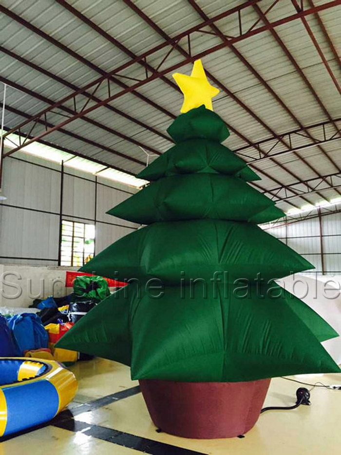 Custom popular design oxford giant inflatable christmas tree for outdoor decoration