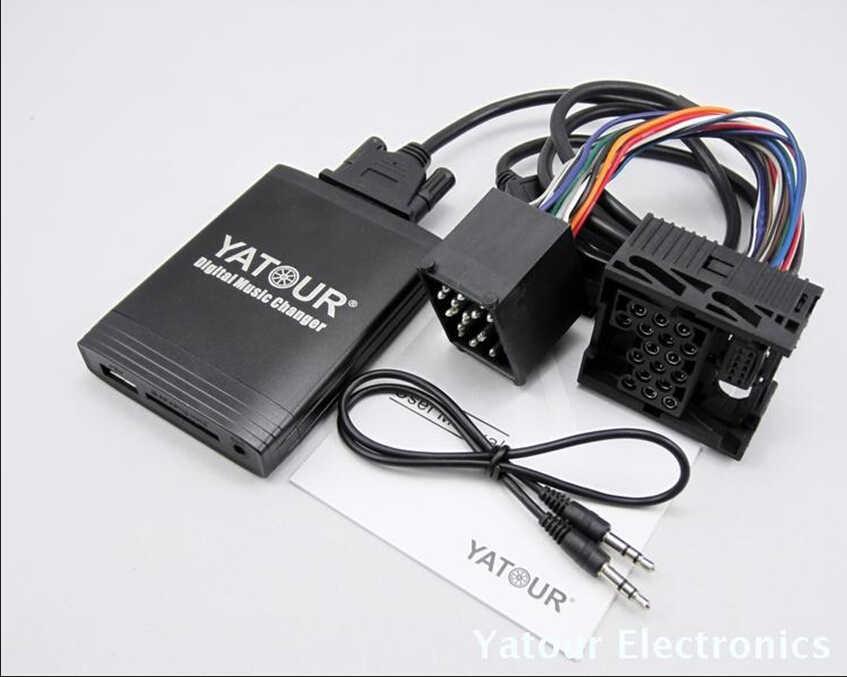 Moonet Car USB SD MP3 Interface Adapter AUX In Input For BMW E36 E38 E39 E46 X3 X5 Z3 Z8 QX187