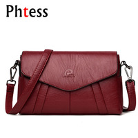 2018 Luxury Envelope Crossbody Bags For Women Messenger Bags Female Leather Shoulder Bags Vintage Clutch Bags