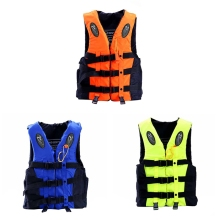 Professional Life Vest Children Adult Reflective Adjustable Waistcoat Jacket with Whistle for Drifting