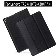 Para lenovo tab 4 10 TB-X304F TB-X304N (2017) nueva tablet Voltear Plegable cubierta del soporte magnético para lenovo tab4 10.1 TB-X304F