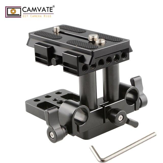 CAMVATE クイックリリースマウントベース Qr プレートマンフロット標準付属品 C1437 カメラの撮影アクセサリー