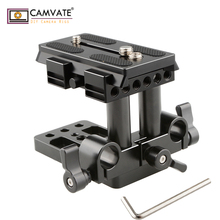 CAMVATE Quick Release Mount Base QR Plate for Manfrotto Standard Accessory C1437 camera photography accessories camvate cheese plate kit with 15mm rod clamp railblock c1742 camera photography accessories