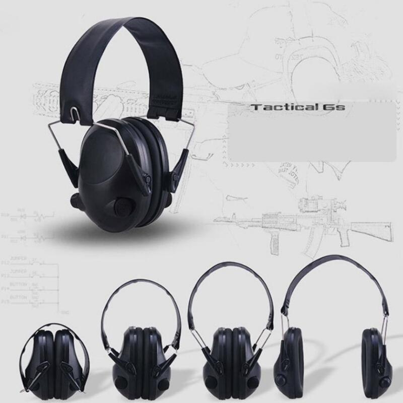 Proteção de orelha eletrônica tiro caça orelha muff anti-ruído fone de ouvido tático fone de ouvido fone de ouvido de proteção auditiva para a caça