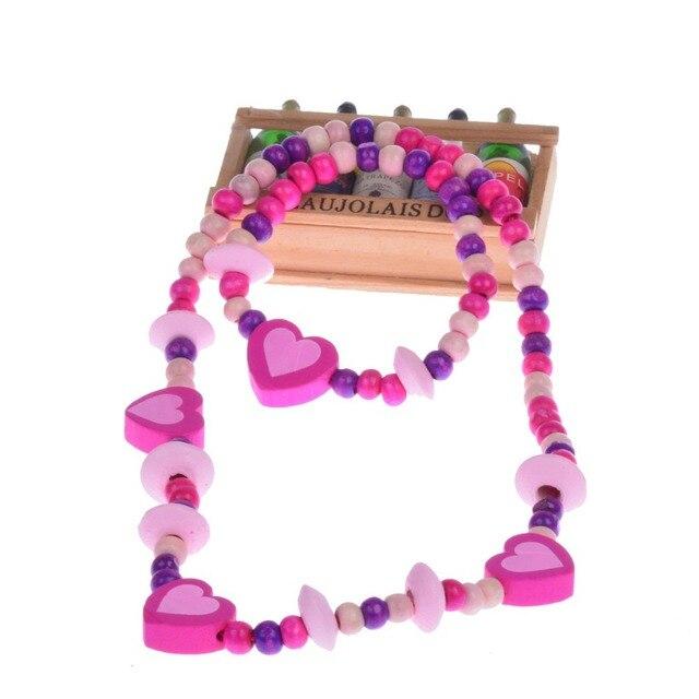 Il trasporto libero 2015 nuovo set di gioielli per bambini per le ragazze di Leg