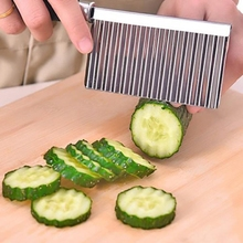 3 PCS Kitchen Cooking Tool Stainless Steel Vegetable Fruit Wavy Cutter Potato Cucumber Carrot Waves Cutting Slicer