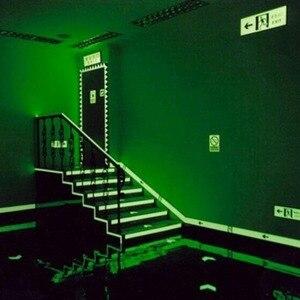 Image 4 - 1.5cm * 1m ışık floresan gece kendinden yapışkanlı kızdırma karanlık etiket bant güvenlik güvenlik ev dekorasyon uyarı bandı