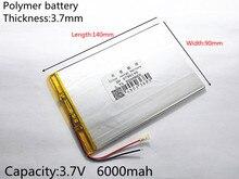 Большая емкость 9 дюймов 10.1 дюймов 3.7 В таблетка батареи 6000 мАч каждый бренд tablet универсальный перезаряжаемые литиевые батареи 3790140