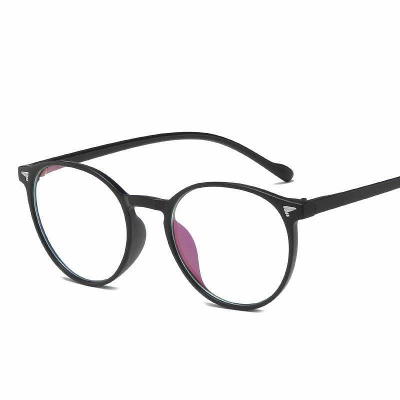 Унисекс круглые Компьютерные стеклянные es женские антирадиационные очки для глаз es женские прозрачные стеклянные es антиуф простые зеркальные очки