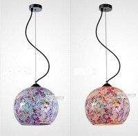 الملونة الزجاج قلادة الأنوار الأزياء زين فسيفساء قلادة ضوء موجز الممر شريط شرفة مصابيح