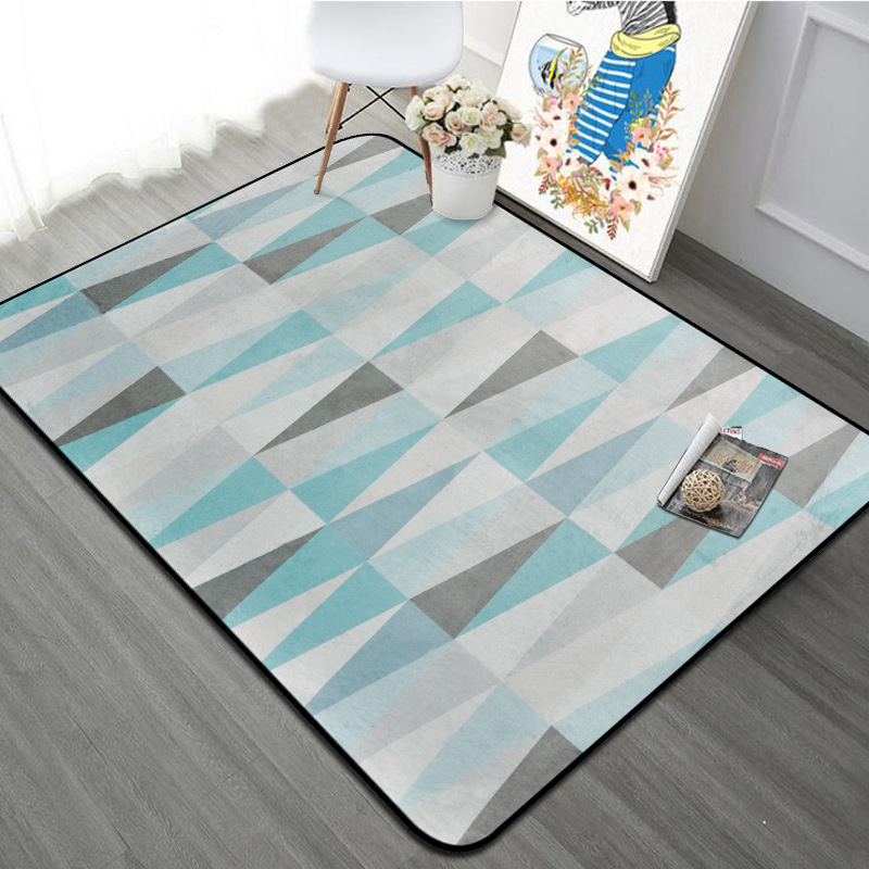 Nordic Style Triangle Shaped Soft Fleece Floor Carpet
