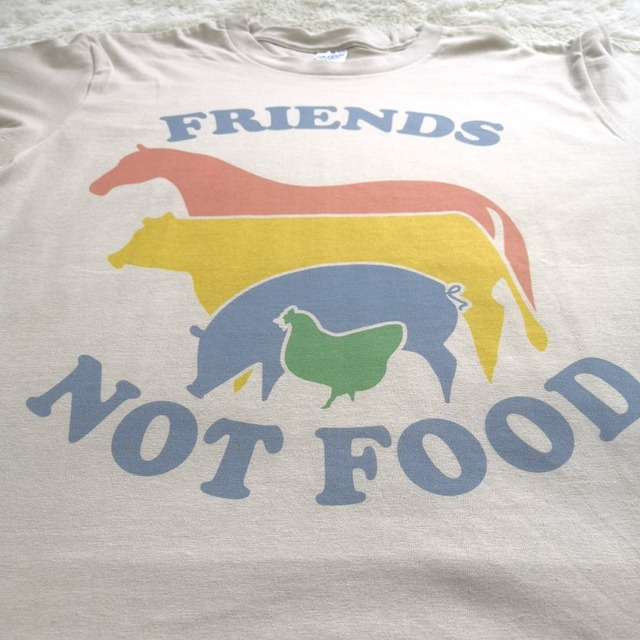 Friends Not Food Printed T-Shirt