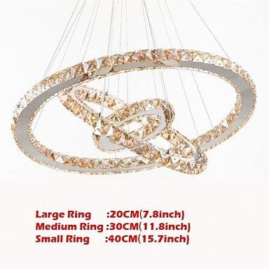 Modern LED 40w k9 Cyrstal Pendant Light Lighting Lamps Fixtures K9 Amber Crystal Round 3 Rings 20CM Plus 30CM Plus 40CM led luxury led amber k9 crystal pendant lights lamps fixtures with 3 ringsfree shipping110 240v